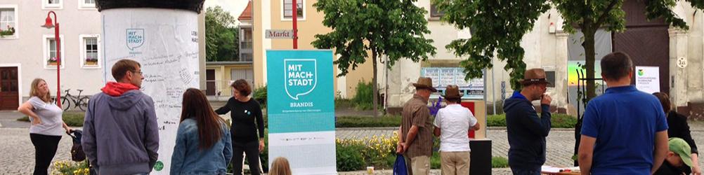 »Dear Town Square« installation in Brandis